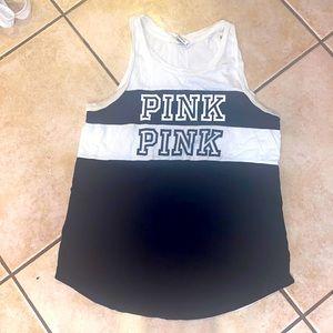 PINk Victoria's Secret black white tank top